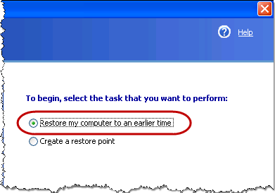 How to restore computer to earlier date in Australia